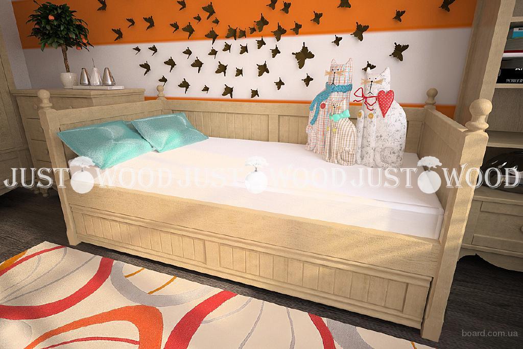 Детская кровать Бэмби из натурального дерева