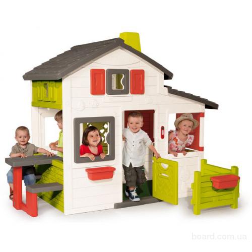 Игровой Домик c чердаком Friends House Floralie Smoby 310209