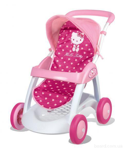 Коляска прогулочная для куклы Hello Kitty Smoby 510134
