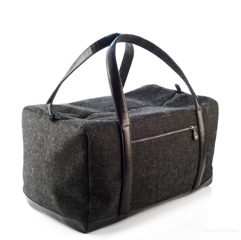 Дорожная сумка из войлока и кожи