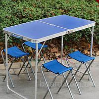Туристический столик+ 4 стула,комплект мебели для пикника Welfull