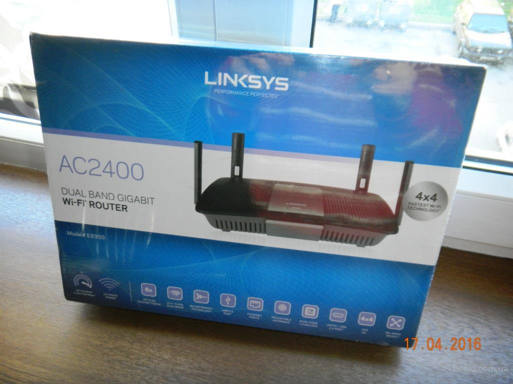 Роутер Linksys E8350 (1733+600Mb),1Gb LAN,2.4/5 gHz,USB3.0,eSATA/USB2.0