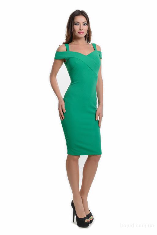 Зелёное платье арт.14193