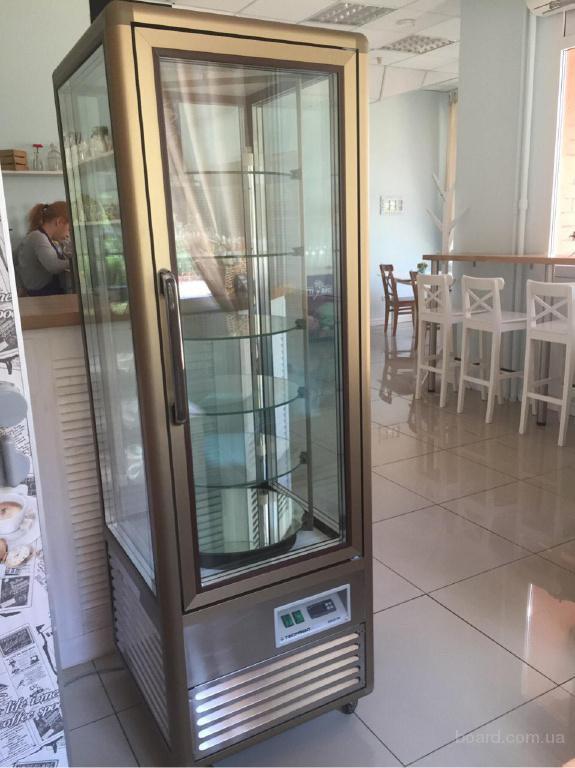 Продам вертикальную кондитерскую витрину Tecfrigo 350 бу