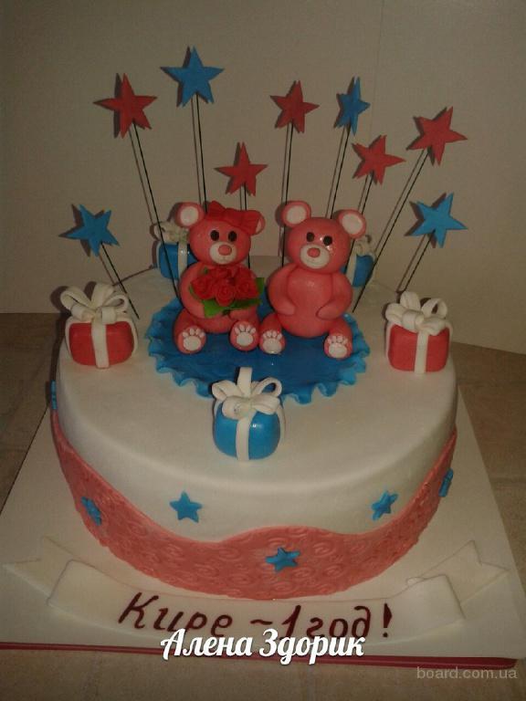 Децкие праздничные торты для девочки 1 годик фото киев