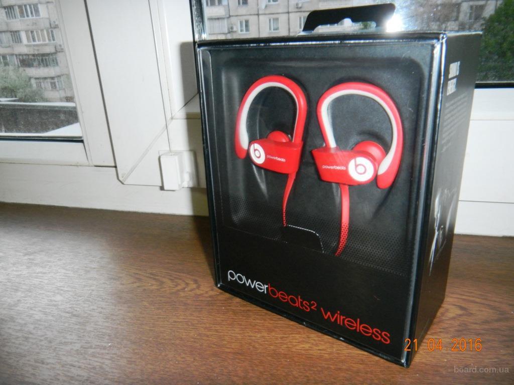 Оригинальные беспроводные наушники  PowerBeats 2 Wireless, Red, new