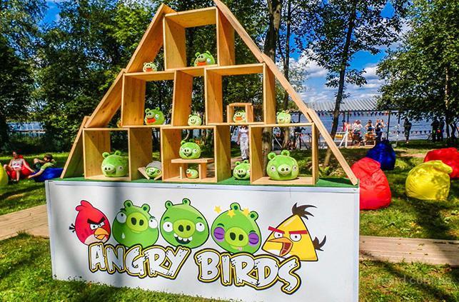 Аренда аттракциона тир «Angry Birds»