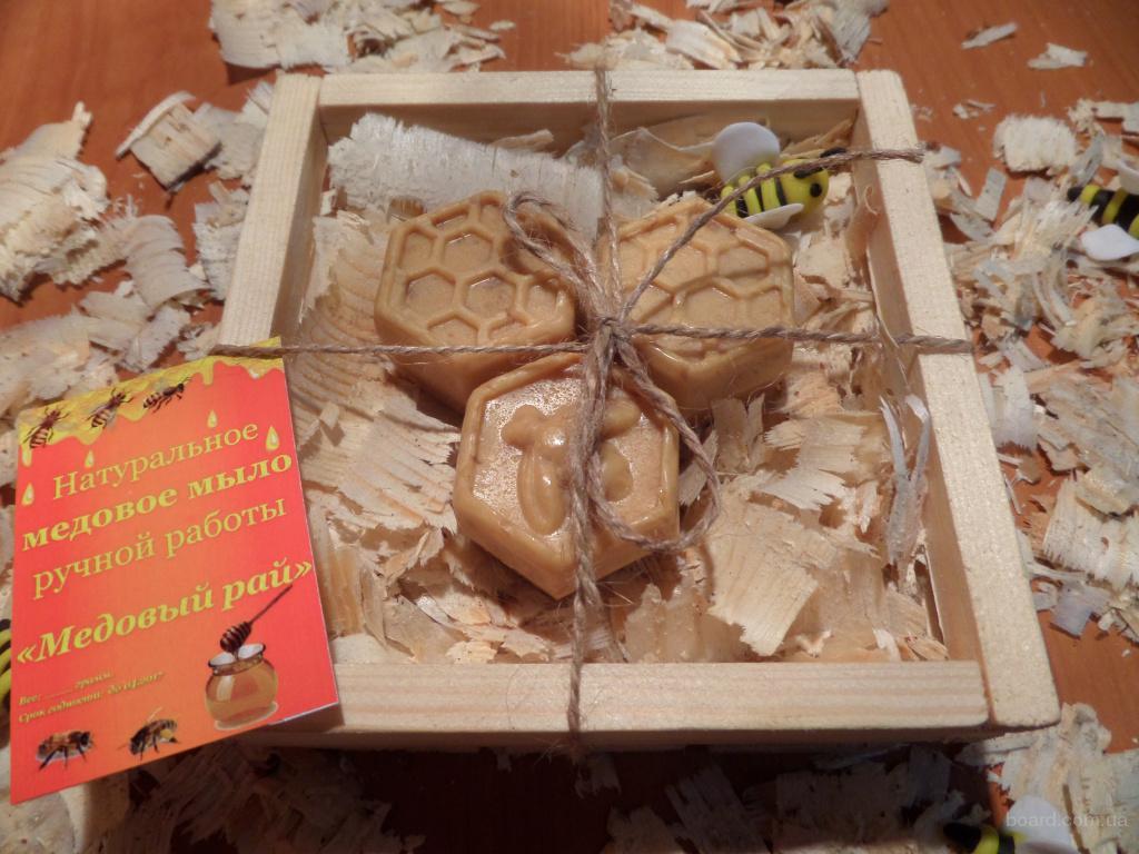 Медово мыло с кокосовой стружкой ручной работы