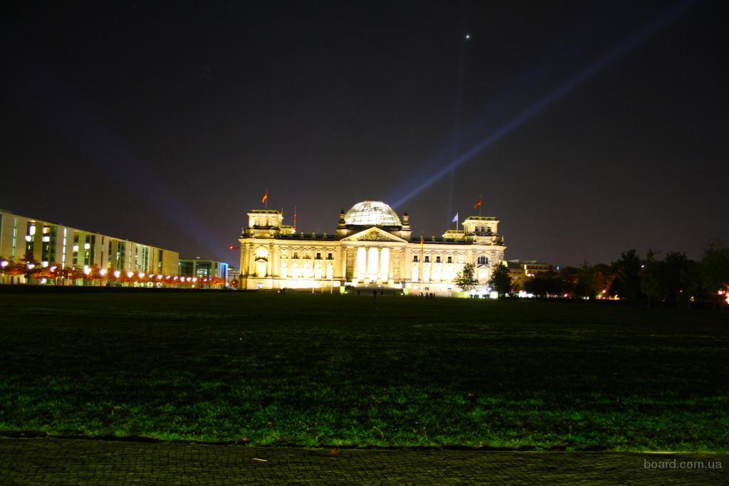 Экскурсия в Берлине вечером.