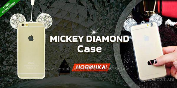 Силикон накладка стразы Микки Маус Samsung A3 A5 A510 A710 G360 J1   Силиконовая накладка со стразами Микки Маус Samsung A3 A5 A510 A710 G360 J1 J2 J5