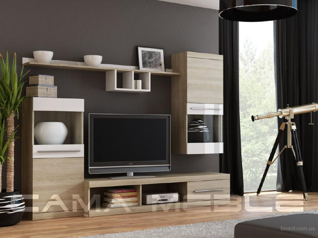 Мебельная стенка в гостиную Nick, производства польской фирмы Cama.