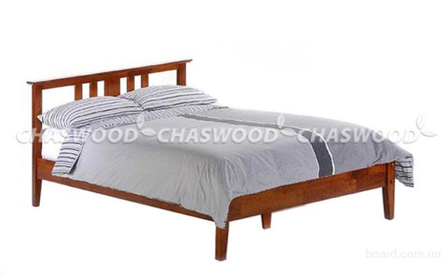 Двуспальная кровать Визави из натурального дерева
