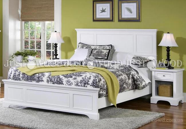Двуспальная кровать Картель из натурального дерева