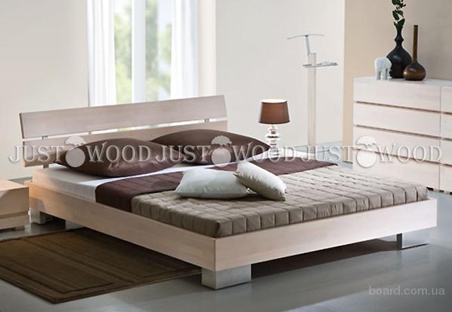 Двуспальная кровать Голдэн из натурального дерева