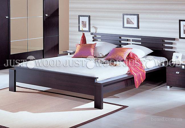 Двуспальная кровать Да Винчи из натурального дерева