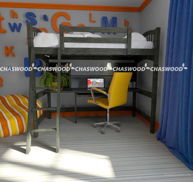 Кровать-чердак Модерн из натурального дерева