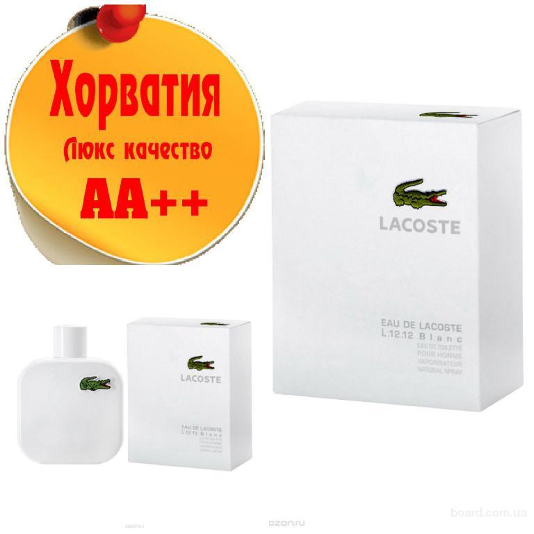 Lacoste L.12.12 Blanc (белая) Люкс качество АА++! Хорватия Качественные копии
