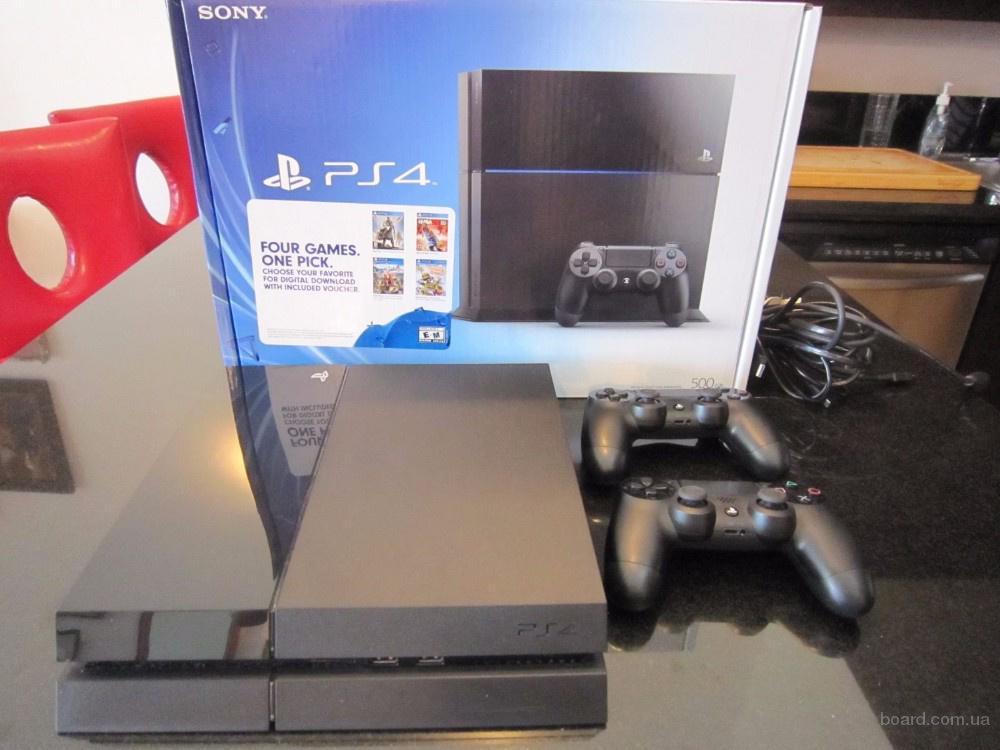 Абсолютно новий PS4 500GB + 2 контролера, 5cds вашого вибору і камери