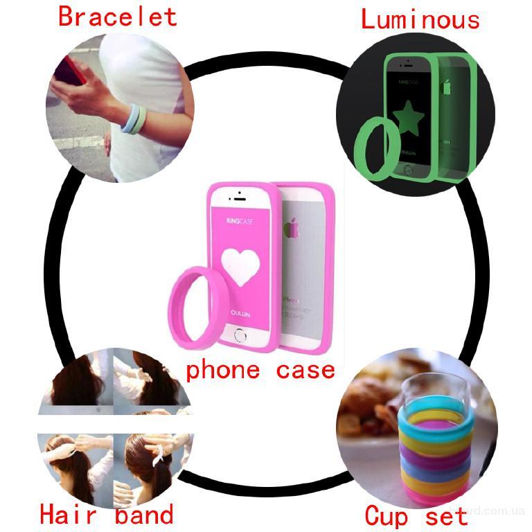 Універсальний силіконовий браслет бампер що світиться на смартфон 4-6 дюйми