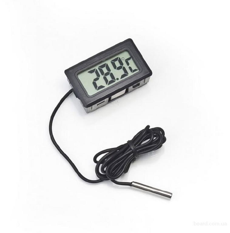 Tермометр цифровой с выносным датчиком -50 ~ + 110 °C по Украине Цена видео