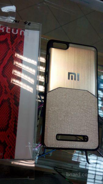 Чехол с прорезиненным покрытием софт тач Xiaomi Mi4c   Xiaomi Redmi Note 2    Xiaomi Redmi 2 3   Ультратонкий пластиковый бампер ( чехол ) с прорезине