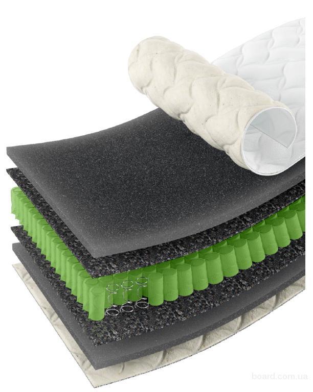 Ортопедический матрас Эпсилон Slip&Fly Organic с наматрасником и подушками в подарок!