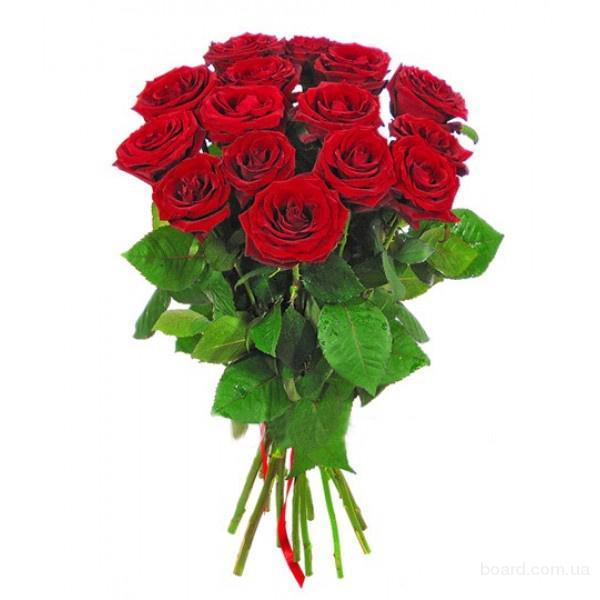15 роз с доставкой по Киеву за 2 часа