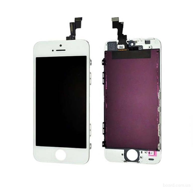 Дисплей для мобильного телефона Apple iPhone 5S touch White High Copy
