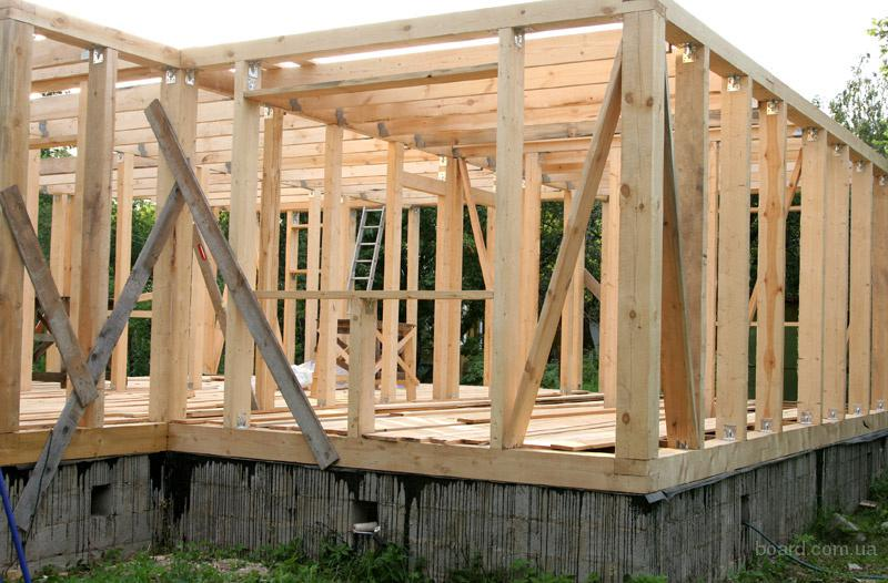 Строительство дачных домов в Донецке. Каркасное строительство.