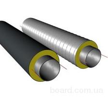 Трубы теплоизолированные стальные в спиро оболочке 133х225