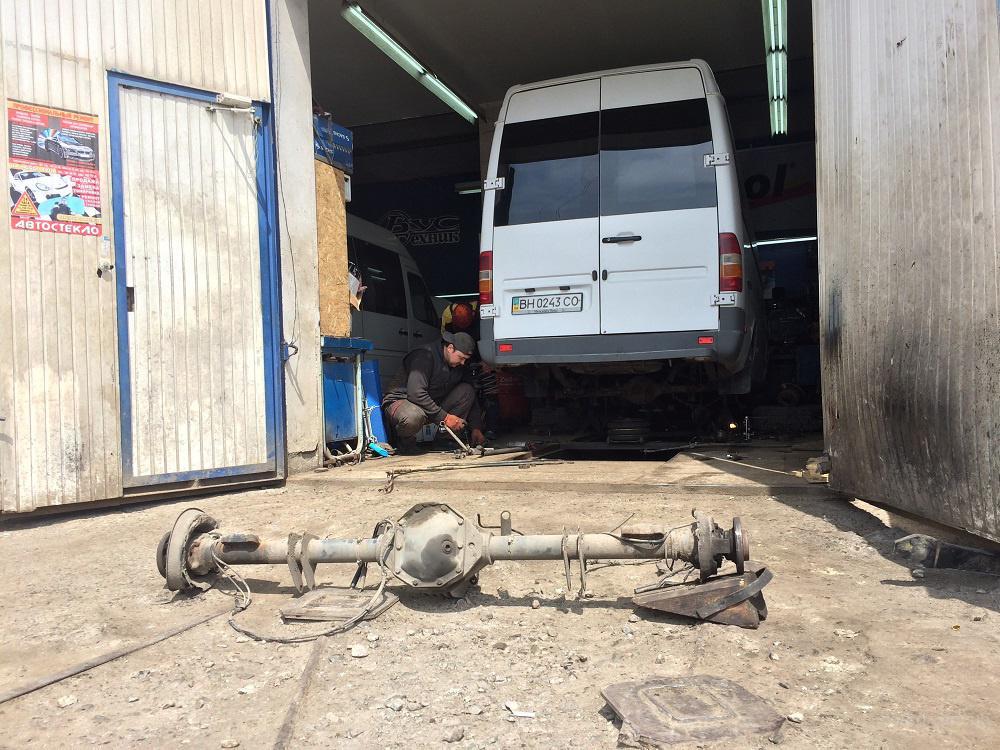 ремонт ходовой на микроавтобусах Mercede