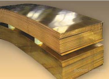 Лист латунный ЛС59-1 тв 2,5х600х1500