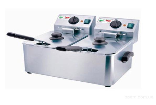 Электрическая фритюрница Inoxtech Италия (4+4л)