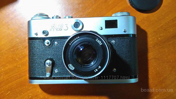 Советский плёночный фотоаппарат ФЭД-3 В отличном рабочем состоянии!