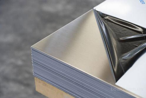 Лист нержавеющий AISI 201 12Х15Г9НД 0,5мм 0,5х1000х2000мм 0,5*1000*2000мм зеркальный матовый шлифованный