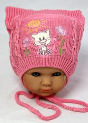 Красивая шапка на новорожденного, р.40-46