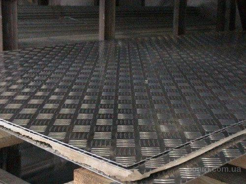 Алюминиевый лист рифленый квинтет 1мм 1х1000х2000мм ГОСТ 1050 АН24 марка АД0