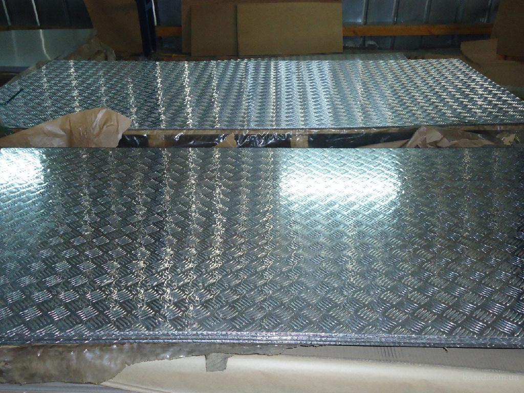 Алюминиевый лист рифленный квинтет 1мм 1х1250х2500мм рифленка алюминий