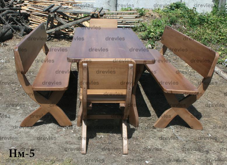 Набор садовой мебели из дерева / Код: Нм-5