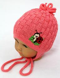 Красивая шапочка на новорожденного, р.40-44