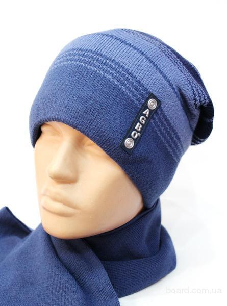 Зимняя шапка с шарфом, р.50-54