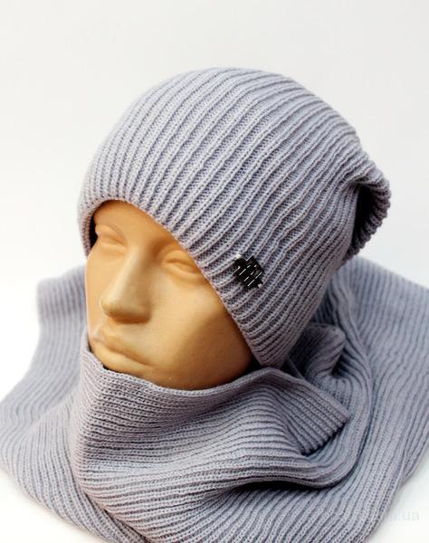 Зимняя шапка с шарфом, р.50-54.