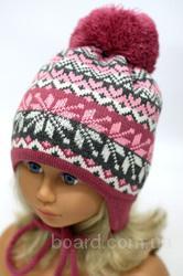 Зимняя шапка с завязками, р.48-52