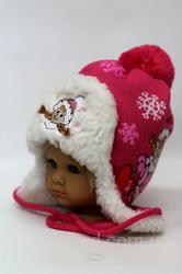 Детская зимняя шапка на меху, р.38-42