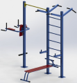 Атлетический комплекс — Уличный спортивный тренажер комбинированный