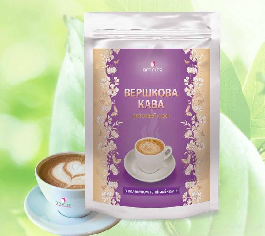 Сливочный кофе Амрита, с коллагеном и Омега-3