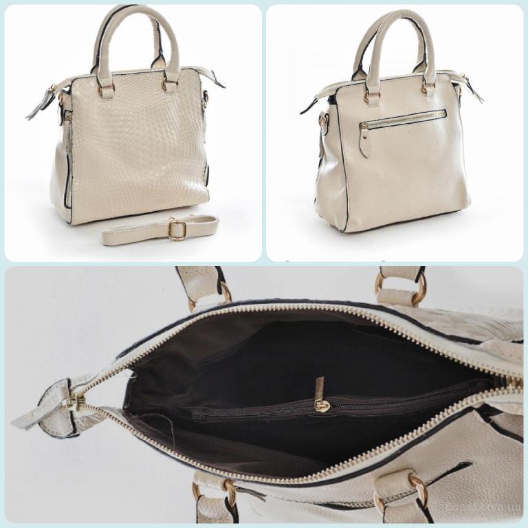 Шкіряна сумочка для жінки, яка у захваті від кремового кольору