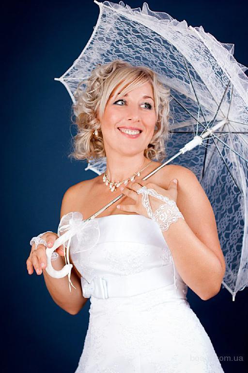 Свадебный зонт, кружевной