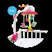 Музыкальный мобиль на кроватку цветочек Cotoons  Smoby 211374R