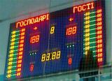 Стадионные табло, спортивные светодиодные табло, уличные часы-термометр светодиодные , технологические табло